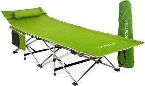 Alpcour Folding Camping Cot – Deluxe Collapsible Single Person Bed in a Bag