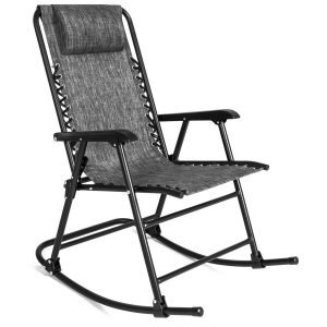 Best Choice Products Foldable Zero Gravity Rocking Mesh Patio Recliner Chair