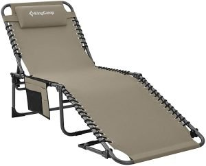 KingCamp Portable Folding Camping Cot Adjustable 4-Position Patio